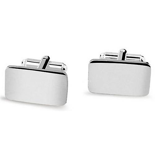 David Van Hagen Rectangular Cufflinks - Silver