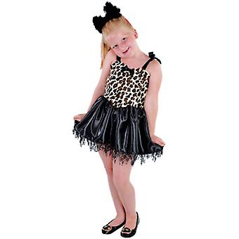 Children's costumes Girls Little kitty leopard fancy dress child