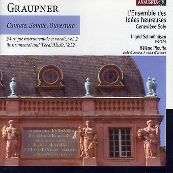 C. Graupner - Graupner: Instrumental- og vokalmusik, bind 2: Cantate, Sonate, Ouverture [CD] USA import