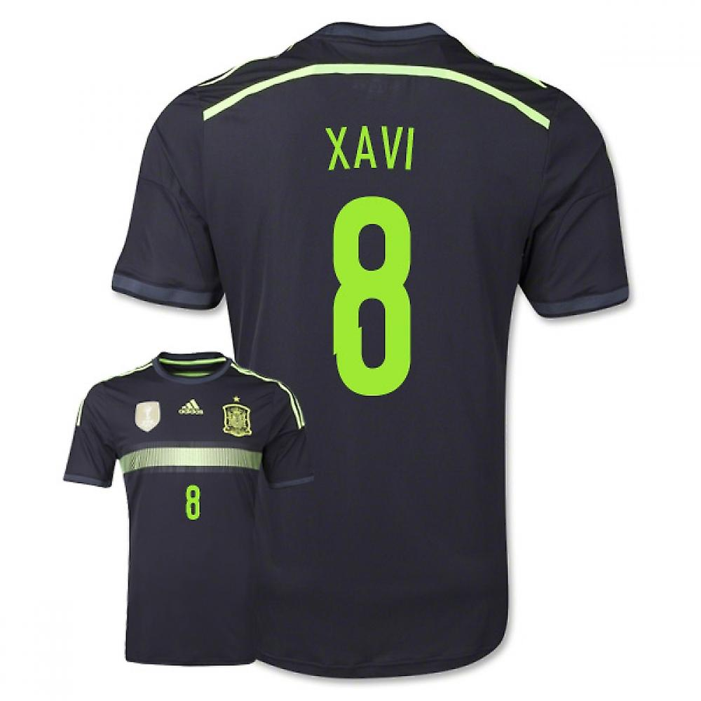 2014-15 Spanje weg World Cup Shirt (Xavi 8) - Kids