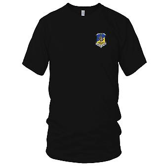 USAF Airforce - Patrol Dog School Lackland A.F.B. Texas Embroidered Patch - Mens T Shirt