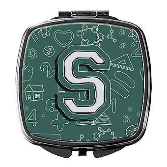 Carolines Schätze CJ2010-SSCM Buchstabe S zurück zu Schule erste Kompakt-Spiegel