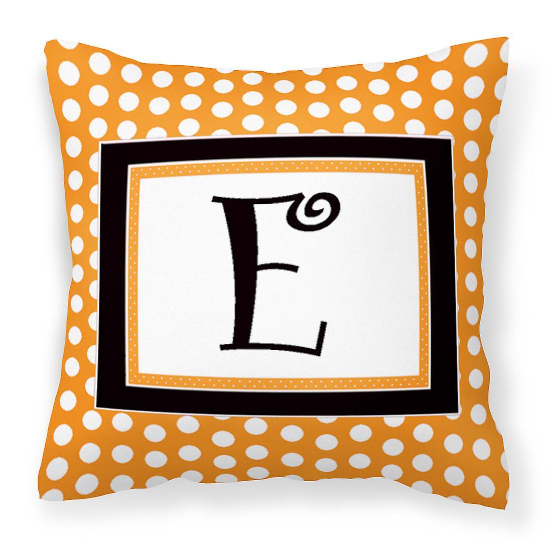 Cj1033 Polkadots Monogramme Décoratif Oreiller Toile E Tissu Initiale Orange UqSzpMV