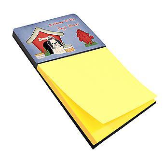 Dog House Collection Shih Tzu Black White Sticky Note Holder