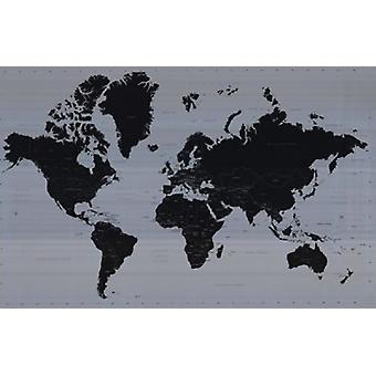World Map - Contemporary Poster Poster Print
