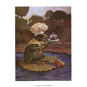 Cooking Frog Poster Print by Dot Bunn (13 x 19)