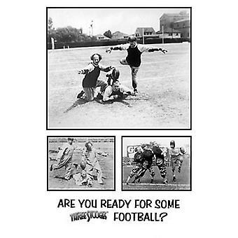 Three Stooges football Poster Print (24 x 36)