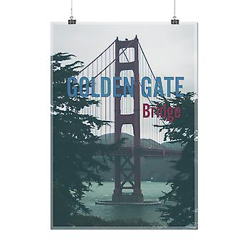 Matte or Glossy Poster with Golden Gate Urban City | Wellcoda | *q25