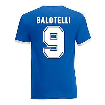 Mario Balotelli Italien Ringer Tee (blau)