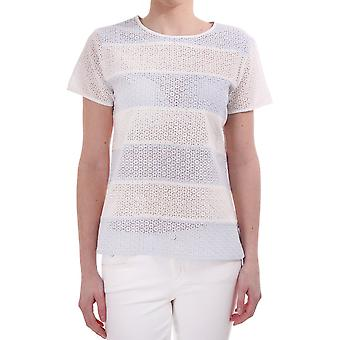 Paul Smith Paul Broidery Anglaise Wide Striped Ss Cn Top