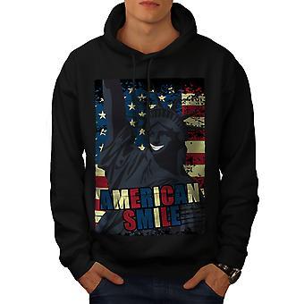 American Freedom Flag Men BlackHoodie   Wellcoda