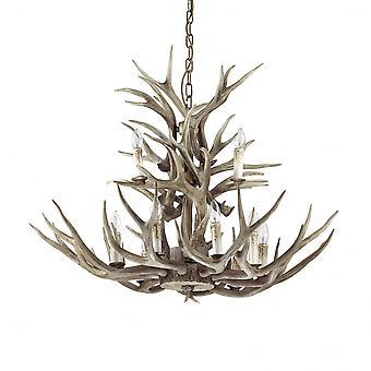 Ideal Lux Chalet Deer Antler lustre cerf, grande lumière 12