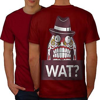 Skull What Funny Men RedT-shirt Back | Wellcoda
