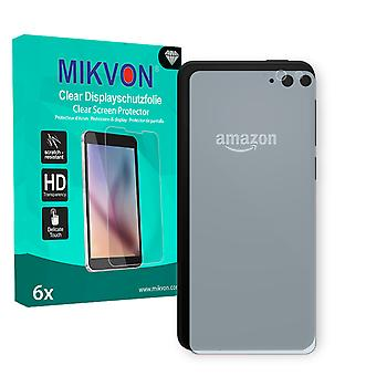 Amazon Fire Phone reverse Screen Protector - Mikvon Clear (Retail Package with accessories)