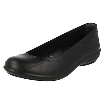 Ladies Easy B Wide Fitting Flat Shoes Honiton