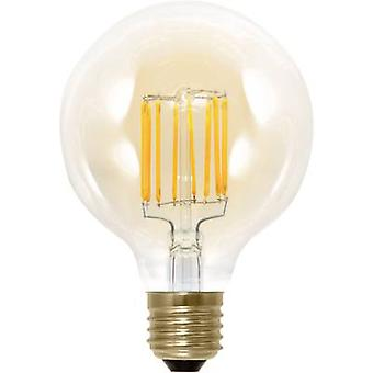 LED E27 Globe 6 W = 30 W Gold (Ø x L) 95 mm x 130 mm EEC: A Segula dimmable, Filament 1 pc(s)