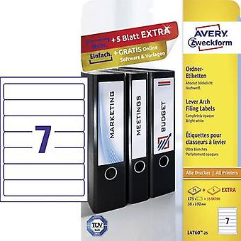 Avery-Zweckform L4760-25 Labels (A4) 38 x 192 mm Paper