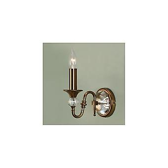 Interiors 1900 Polina Single Light Wall Fitting In Brass Finish With C