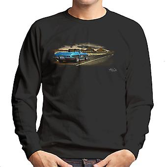 Chevrolet Corvette Stingray Convertible Desert Art Black Men's Sweatshirt