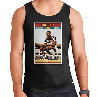 Sporting Legends Poster Brazil Pele The Black Pearl World Cup Men's Vest