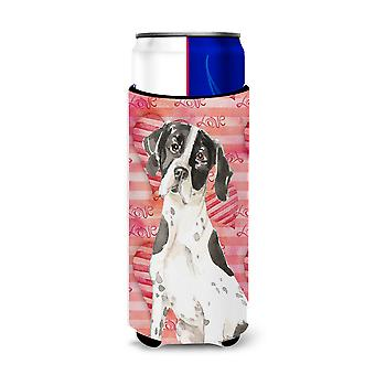 Love a English Pointer Michelob Ultra Hugger for slim cans