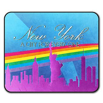 Гордость любви городов Нью-Йорк не нескользкие мыши коврик коврик 24 см х 20 см   Wellcoda