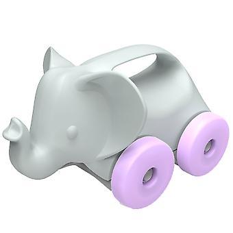 Słoń zielony zabawki na kołach Push wzdłuż zabawka 100% z recyklingu BPA darmo