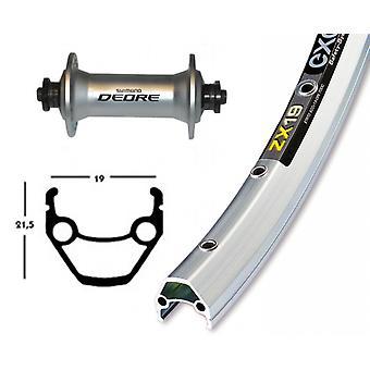 Bike parts 28″ front wheel Exal ZX 19 + SHIMANO DEORE (QR)