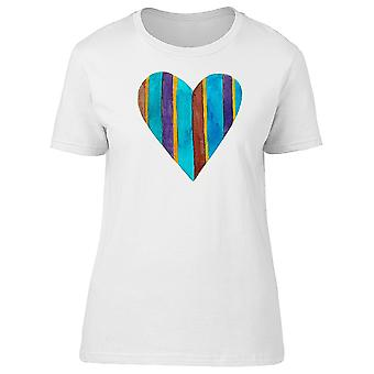 Blue Heart With Stripes  Tee Women's -Image by Shutterstock