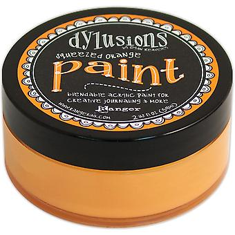 Dylusions By Dyan Reaveley Blendable Acrylic Paint 2oz-Squeezed Orange