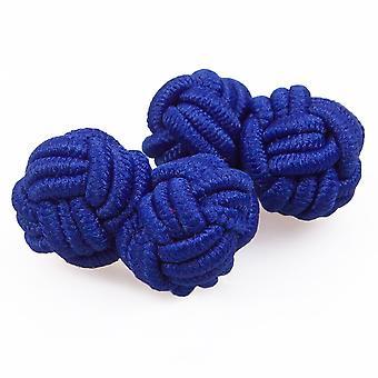 Königsblau Knoten Manschettenknöpfe
