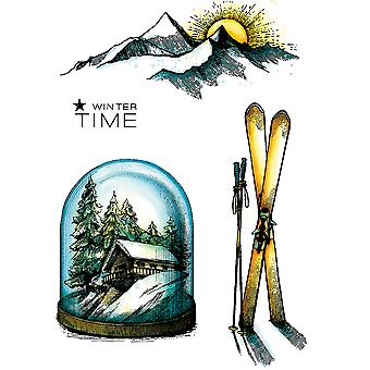 Carabelle Studio Cling Stamp A6-Winter Time