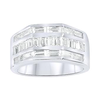 Sterling 925 zilver pave ring - HEXAGO