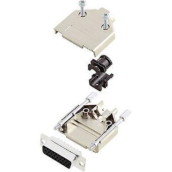 encitech DTPK15-M-HDS26-K D-SUB receptacle set 180 ° Number of pins: 26 Solder bucket 1 Set
