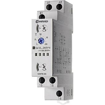 Conrad Components 506666 Multifunction Time Delay Relay, Timer, 1 CO, SPDT-CO, 12-240Vdc/ac IP20