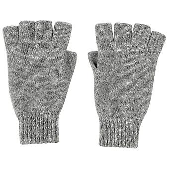 Johnstons of Elgin Fingerless Gloves - Light Grey