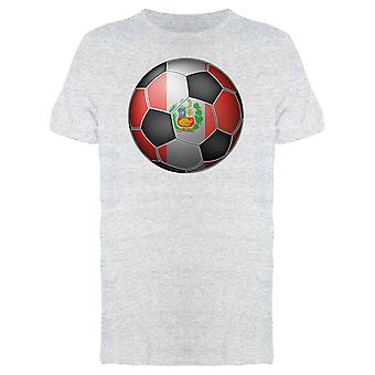 Soccer Ball With The Peru Flag Tee Men's -Image by Shutterstock