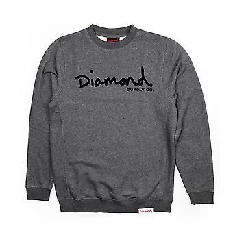 Diamond Supply Co OG Skript Core Sweatshirt Rotguss