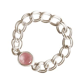 Gemshine - vrouwen - ring - 925 Zilver - Rose Quartz - roze - mobile - glad