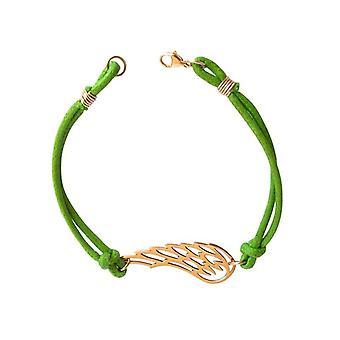 Gemshine - Panie - bransoletka - węzłów skrzydła - brąz - zielone - rozmiar regulowany