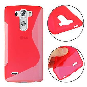 Schutzhülle TPU Case Hülle für Handy LG G3 mini rot