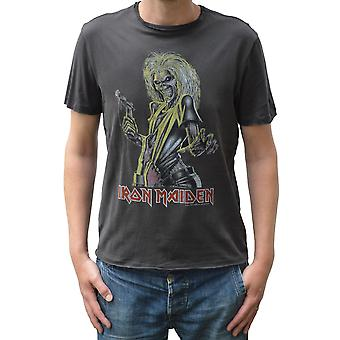 Amplified Iron Maiden Killers Charcoal Crew Neck T-Shirt S