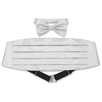 Cumberbund & BowTie METALLIC Design Men's Cummerbund Bow Tie Set