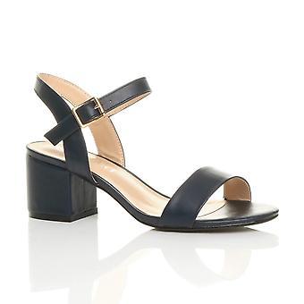 81c2aa0c112 Ajvani womens mitten av låga block klack peep toe ankel rem strappy fest  sandaler