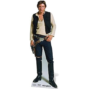 Official Han Solo Star Wars Harrison Ford Lifesize Cardboard Cutout