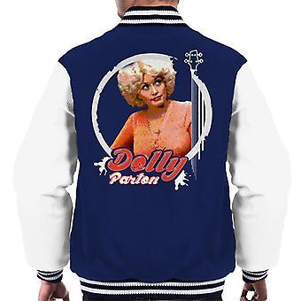 Young Dolly Parton Retro Men's Varsity Jacket