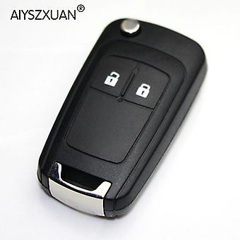 Sleutel Shell voor OPEL VAUXHALL Insignia Astra Flip Remote Key Case Vervanging 2 BN