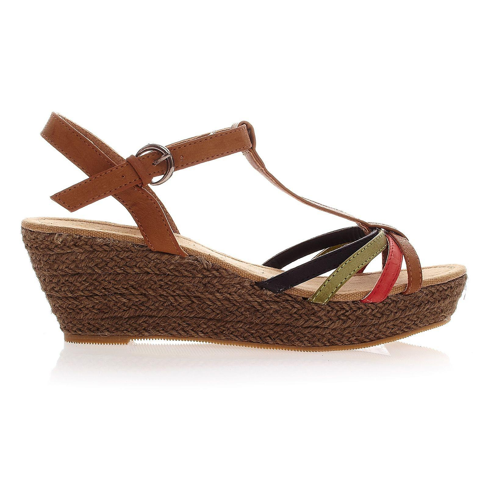 Waooh - Fashion - Wedge Sandals brown