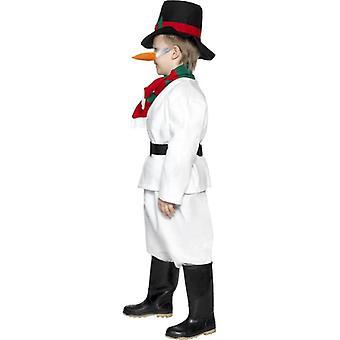 Sneeuwpop kostuum, jongens Medium leeftijd 6-8