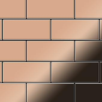 Mosaico de metal sólido Cobre ALLOY Subway-CM